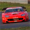 red racing car